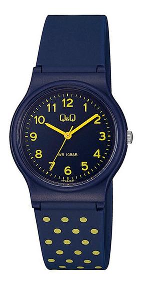 Relógio Infantil Feminino Q&q Azul E Amarelo Prova Dágua