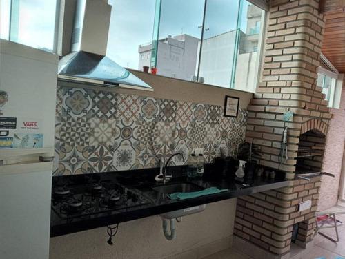 Cobertura Com 2 Dormitórios À Venda, 88 M² Por R$ 310.000,00 - Jardim Paraíso - Santo André/sp - Co0824