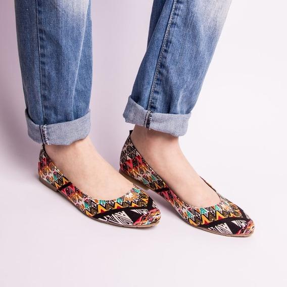 Zapatos Estilo Ballerinas Sandalias Comoda Flats Estampado