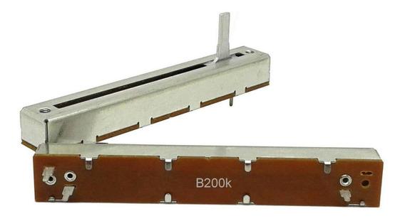 2 Unids Potenciômetro Deslizante Mono B200k 200kb 88 X 60mm