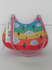 Bolsa Infantil Rosa Claro Com Estampa De Unicórnio