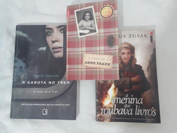 Diário De Anne Frank + A Menina Que Roubava Livros +...