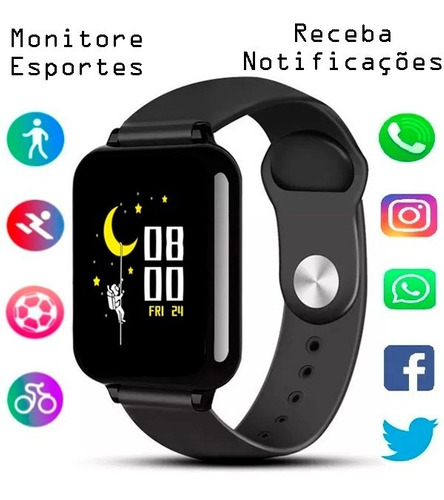 Relogio Inteligente B57 Hero Band3 Smartwatch Android Ios Nf