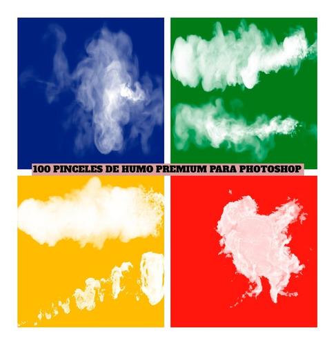 100 Pinceles De Humo Premium Para Photoshop + 100 Png Humo