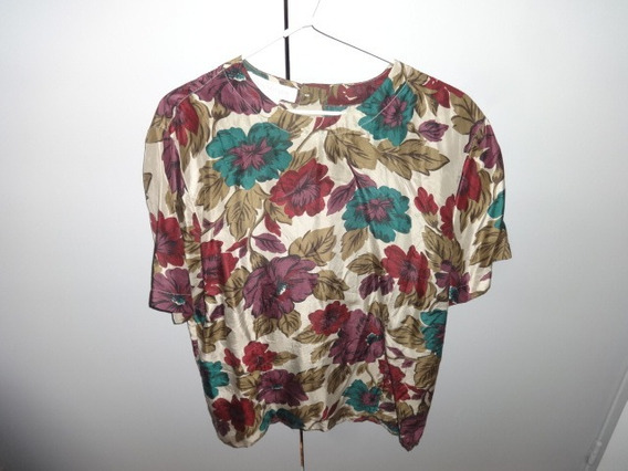 Blusa, Jones New York, Talle 6, Seda Natural