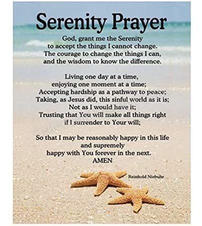 Imagen 1 de 7 de Oración De La Serenidad De Beach-8 X 10  Cartel -art Imprim