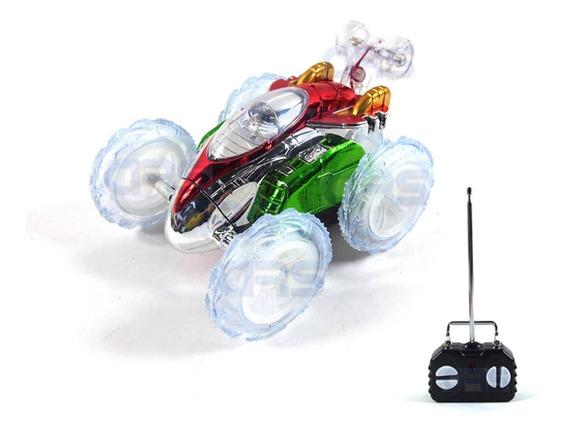 Carrinho Controle Remoto Carro Maluco Gira 360º C/ Luzes Led