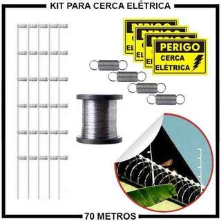 Kit P/ Cerca Elétrica Falsa 70 Metros Haste 1 Metro + Brinde