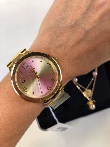 Kit Relógio Feminino Condor Dourado Folheado Co2035kxp/b4t