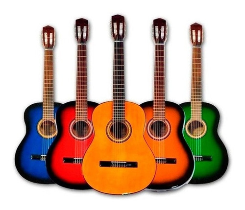Imagen 1 de 2 de Guitarra Criolla De Estudio + Libro Aprendizaje Super Promo