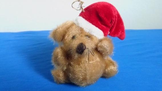 Pelúcia Importado - Cachorrinho De Natal - 9 Cm - Enfeite