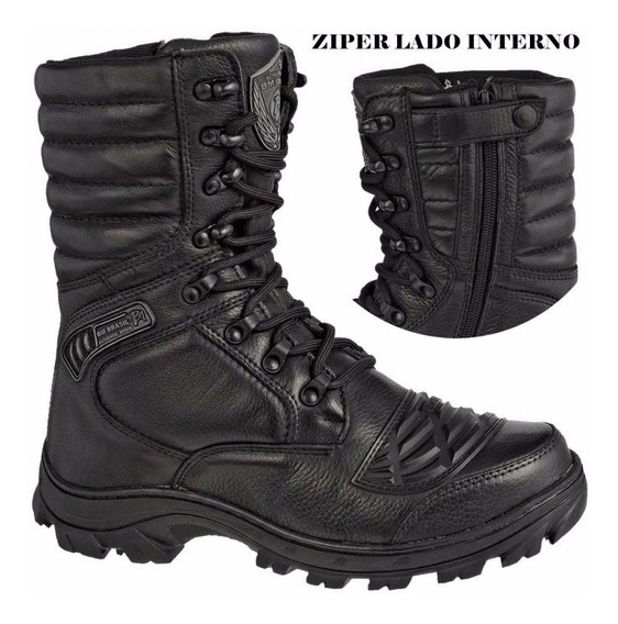 Bota Coturno Militar Zíper Lateral Elite Swat Black Friday