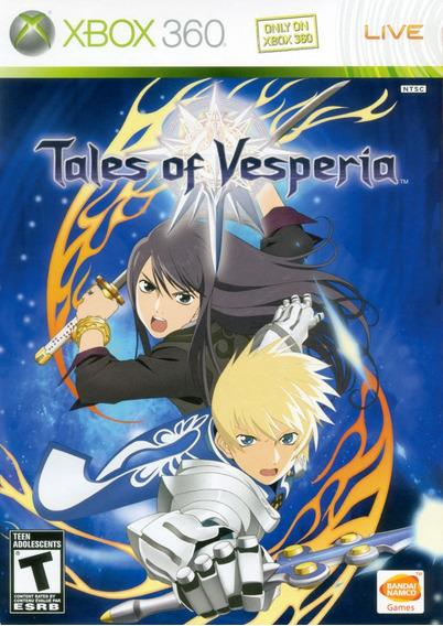 Jogo Tales Of Vesperia Xbox 360 X360 Rpg Game Frete Grátis