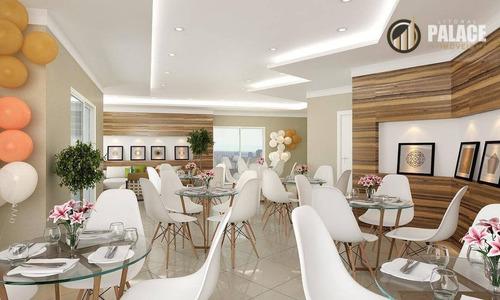 Apartamento Com 1 Dormitório À Venda, 40 M² Por R$ 190.700,00 - Tupi - Praia Grande/sp - Ap1668