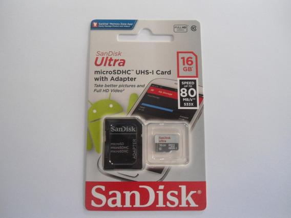 Sandisk Ultra Micro Sdhc 16gb Class 10 Original Lacrado