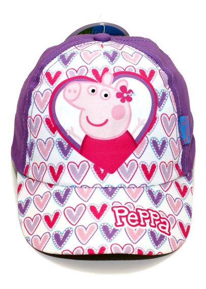 Gorro Peppa Pig Original Visera Línea Premium Verano Niña