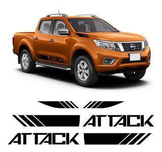 Kit Faixa Lateral Adesivos Nova Nissan Frontier Attack