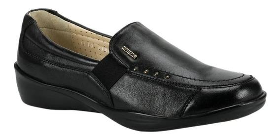 Zapato Para Dama Onena 1110 Piel Negro, Extra Suave Cómodo