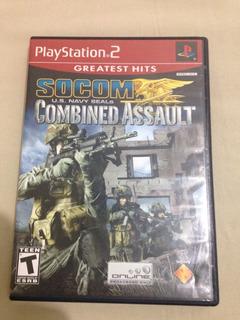 Playstation 2 Socom Combat Assault Completo R$82,99