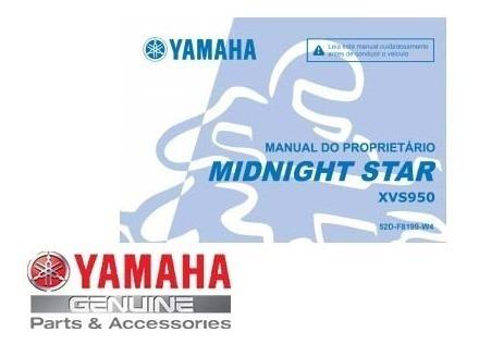 Manual Do Proprietário Midnight Star 950 Original Yamaha