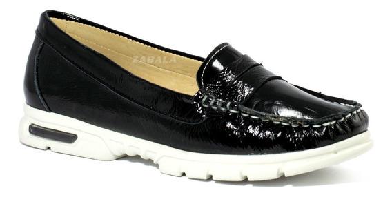 Zapatos Mujer Gravagna Mocasin Nautico Burbuja Cuero Vacuno