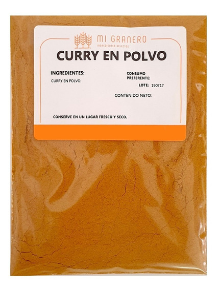 Curry Especia 250 Gramos