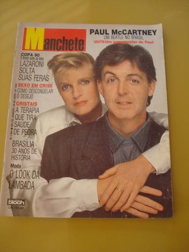Revista Manchete 1984 Paul Mccartney Paula Toller 1990 K155