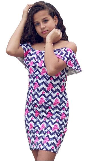Roupas Infantil Menina Vestidos Estampados Kit 5 Unidades