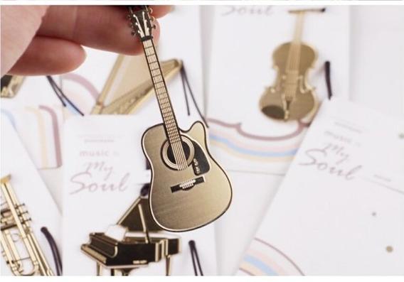 Marcador De Livro Metal Instrumento Guitarra
