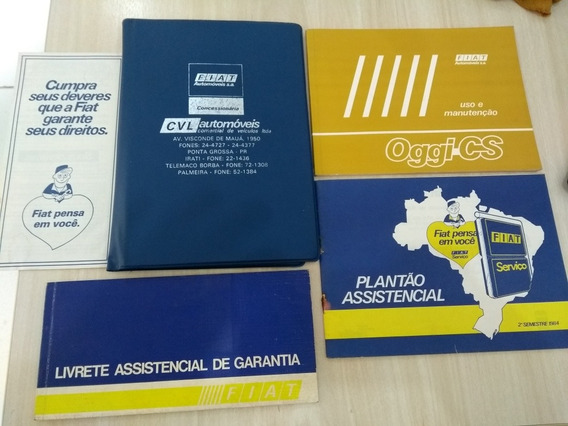 Manual Proprietário Fiat Oggi Cs 1983 Completo Original