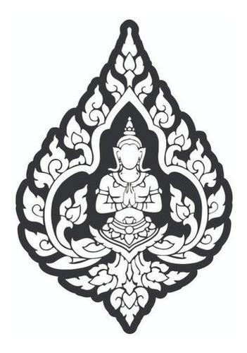 Imagem 1 de 4 de Quadro Decorativo Buda Namastê - Mdf Preto 3mm Para Presente