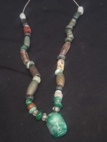 Collar De Jade Tipo Prehispanico