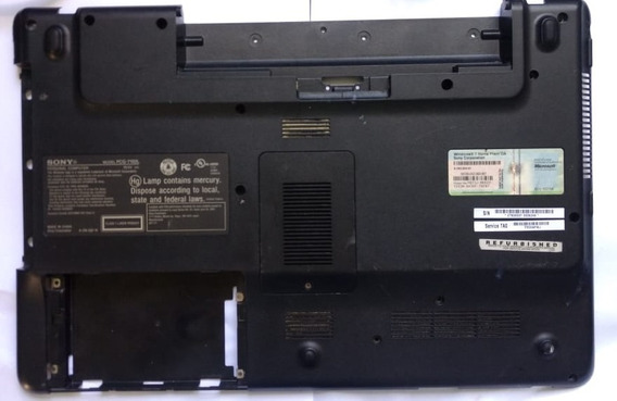 Carcaça Base Inferior Sony Vaio Pcg 7192l - Usado