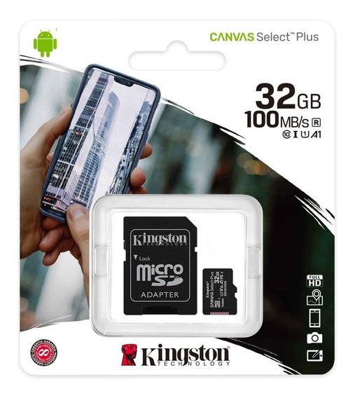 Cartão De Memória Kingston 32gb Canvas Select Plus 100mbs