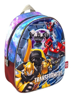 Mochila Espalda Transformers 13 PuLG 3d Jardin Nene Original
