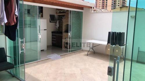 Cobertura Com 3 Dormitórios À Venda, 120 M² Por R$ 636.000,00 - Vila Gilda - Santo André/sp - Co1513
