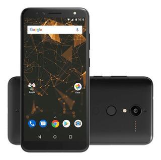 Celular Quantum L Preto - Android 8.1 - Tela De 6 16gb 12mp