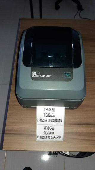 Impressora Térmica Zebra Gx420t 203 Dpi Usb/se