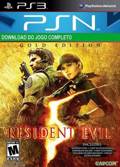 Resident Evil 5 Ps3 Midia Digital Psn