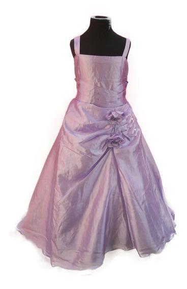Vestido Nena Casamiento Cortejo Lavanda Lila T. 6
