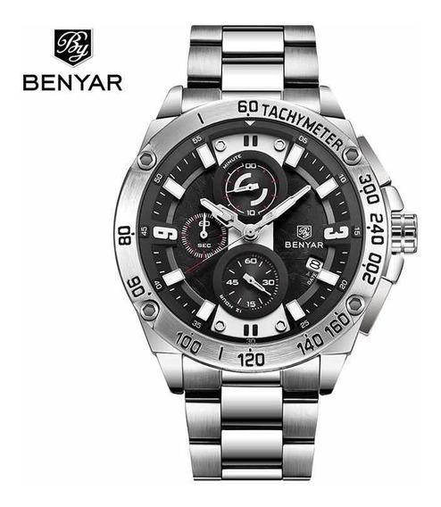 Relógio Masculino Luxo Benyar Original