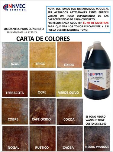 Oxidante De Concreto 4 Lts Para 40 Mts2