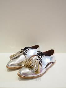 622f4293107 Zapatos Oxford Mujer Plateados - Ropa y Accesorios en Mercado Libre ...