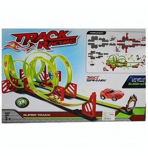 Pista Track Racing Rotación Carro Niños 360 Carrera 68809