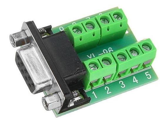 Módulo Adaptador Db9 Serial Rs232 Fêmea Com Borne