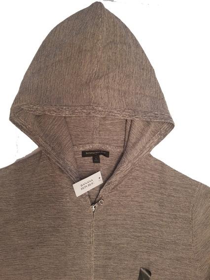 Sweater Campera Con Cierre Y Capucha Banana Republic