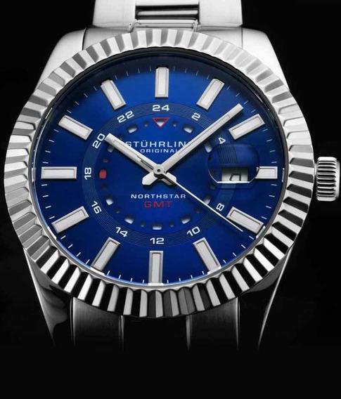 Relógio Sthurling Northstar 892 Gmt Quartz 42mm Classic