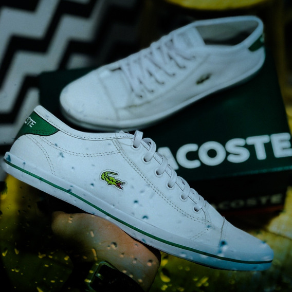 Sapatenis Lacoste White/red