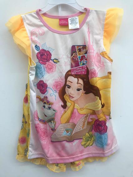 Pijama Bella Y Bestia Disney Princesas Shorts Y Blusa 7/8