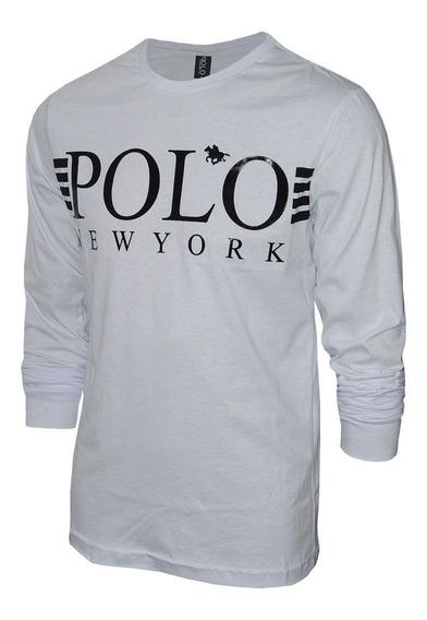 Camiseta Polo Rg518 Manga Longa New York